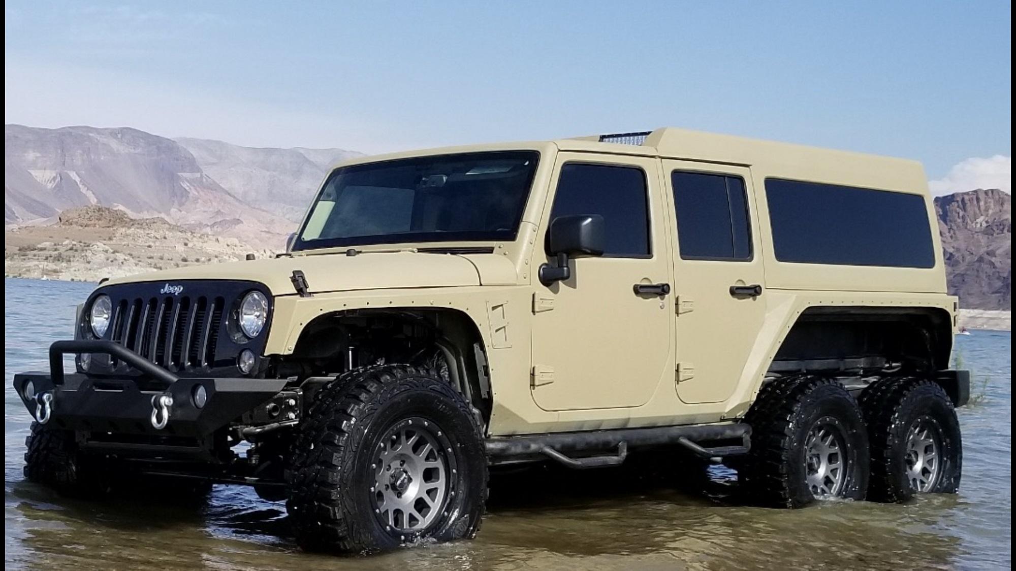 6x6 Jeep - 6 wheel drive jeep